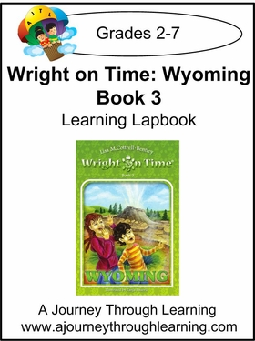Wright on Time- Wyoming Book 3 Lapbook Instant Download-$4.50