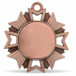 1-7/8 INCH STARBURST MEDAL ANTIQUE BRONZE FINISH