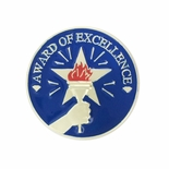 1 INCH AWARD OF EXCELLENCE LAPEL PIN
