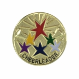 1 INCH CHEERLEADER LAPEL PIN