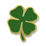 1 INCH FOUR LEAF CLOVER LAPEL PIN
