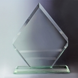 10-1/2 INCH ARROWHEAD JADE GLASS AWARD
