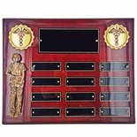 10-1/2 X 13 INCH PERPETUAL ROSEWOOD PIANO FINISHED NURSE PLAQUE