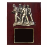 10-1/2 X 13 INCH THE BRAVEST FIRE FIGHTER ON PIANO FINISHED PLAQUE