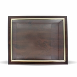 10-1/2 X 13 INCH WALNUT PLAQUE HOLDS 8-1/2 X 11 CERTIFICATE, GOLD RAISED BORDER