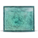 10-1/2 X 13 INCH GREEN MARBLE PLAQUE HOLDS 8-1/2 X 11 INCH CERTIFICATE