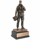 11-1/2 INCH AIR FORCE FIGHTER PILOT TROPHY, ELECTROPLATER IN BRONZE