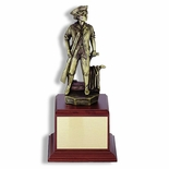 11-1/2 INCH MINUTEMAN TROPHY,  ELECTROPLATED IN ANTIQUE BRASS