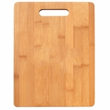 11-1/2 X 8-1/2 INCH GENUINE BAMBOO WITH INSET HANDLE CUTTING BOARD