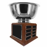 12 INCH DIAMETER SILVER BOWL PERPETUAL TROPHY COMES WITH 24 NAME PLATES