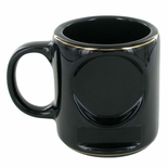 12 OUNCE BLACK COFFEE MUG WITHOUT 2 INCH INSERT AND PLATE
