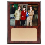 12 X 15 INCH PHOTO PLAQUE WALNUT FINISH HOLDS 8X10 PHOTO