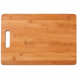 13-3/4 X 9-1/2 INCH GENUINE BAMBOO WITH INSET HANDLE CUTTING BOARD