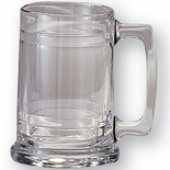15 OUNCE GLASS TANKARD, BEER MUG