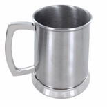 16 OUNCE BRUSHED FINISH DOUBLE WALL STAINLESS STEEL TANKARD