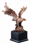 19-1/2 INCH BRONZE ELECTROPLATED AMERICAN EAGLE ON BLACK BASE