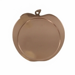 2-1/2 INCH APPLE SHAPED BRONZE MEDAL FRAME, HOLDS 2 INCH INSERT