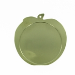 2-1/2 INCH APPLE SHAPED GOLD MEDAL FRAME, HOLDS 2 INCH INSERT