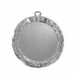 2-1/2 INCH DIE CAST BRIGHT SILVER MEDAL FRAME HOLDS 2 INCH INSERT