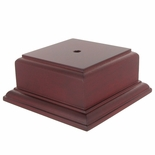 2-1/8 X 3-1/2 X 3-1/2 ROSEWOOD FINISH BASE FOR BOWL OR CUP