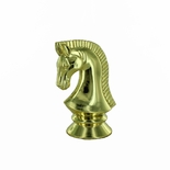 2 3/4 GOLD PLASTIC CHESS KNIGHT FIGURE