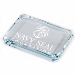 2-3/4 X 3-3/4 INCH OPTICAL CRYSTAL PAPER WEIGHT