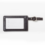 2-3/4x4-1/4 LEATHERETTE LUGGAGE TAG IN BLACK
