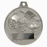 2 INCH SCHOLASTIC ACHIEVEMENT MEDAL, SILVER