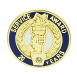 20 YEARS OF SERVICE AWARD PIN WITH SWAROVSKI CRYSTAL
