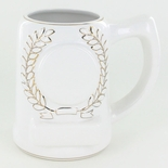 28 OUNCE WHITE BEER MUG WITHOUT 2 INCH INSERT AND PLATE