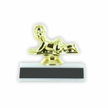 3 INCH CRAWLING BABY TROPHY ON WHITE PLASTIC BASE