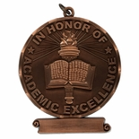 3 INCH IN HONOR OF ACADEMIC EXCELLENCE BRONZE MEDAL