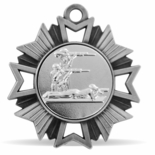 3-POSITION SHOOTING MEDAL, SILVER
