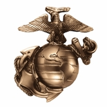 4-1/2 x 5-1/2 MARINE CORPS PLAQUE MOUNT DIE CAST