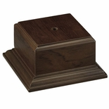4-1/4 X 4-1/4 X 2-1/4 WALNUT FINISH  WOOD BASE