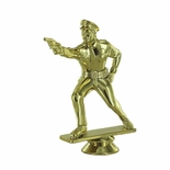 4 3/4 INCH GOLD PLASTIC MALE POLICE PISTOL SHOOTER