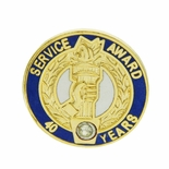40 YEARS OF SERVICE AWARD PIN WITH SWAROVSKI CRYSTAL