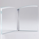 5-1/4 INCH OPTICAL CRYSTAL OPEN BOOK