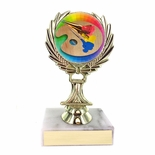 5-1/4 INCH TROPHY RISE WITH 2 INCH MYLAR ART INSERT