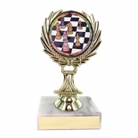5-1/4 INCH TROPHY RISE WITH 2 INCH MYLAR CHESS INSERT