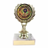 5-1/4 INCH TROPHY RISE WITH 2 INCH MYLAR OUTSTANDING ATTENDANCE INSERT