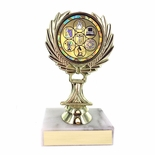 5-1/4 INCH TROPHY RISE WITH 2 INCH MYLAR SCIENCE FAIR INSERT