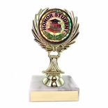 5-1/4 INCH TROPHY RISER WITH 2 INCH HONOR STUDENT MYLAR INSERT