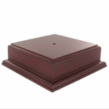 5-3/4 X 5-3/4 X 2-1/8 ROSEWOOD FINISH BASE FOR BOWL OR CUP