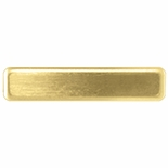 5/8 X 2-1/2 SATIN BRASS NAME BADGE WITH FUSED POSTS AND CLUTCH BACK