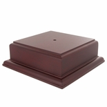 5 X 5 X 2-1/8 ROSEWOOD FINISH BASE FOR BOWL OR CUP