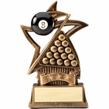 6 INCH BILLIARDS SWEEPING STAR RESIN TROPHY