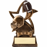 6 INCH FOOTBALL SWEEPING STAR RESIN TROPHY