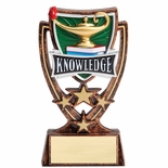 6 INCH PLASTIC MOLDED KNOWLEDGE TROPHY