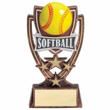 6 INCH PLASTIC MOLDED SOFTBALL TROPHY